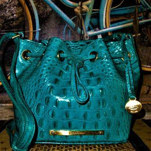 Brahmin Lexie  Lagoon Drawstring Handbag